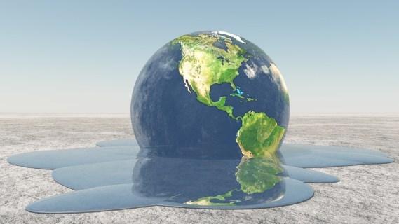 Earth melting - Dreamstime-33491903