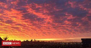 Coronavirus: Melbourne locals celebrate vivid sunrise 'amid the chaos'