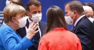 Merkel, Macron, Sanna Marin and Stefan Lofven